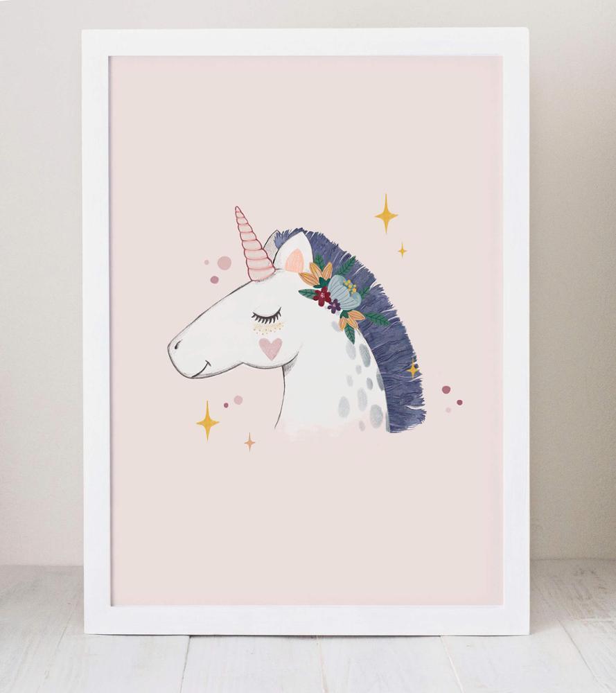 Lámina Unicornio Vintage | Cuquina