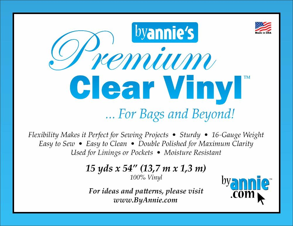 Supplies Vinyl, clear - 15yd x 54""