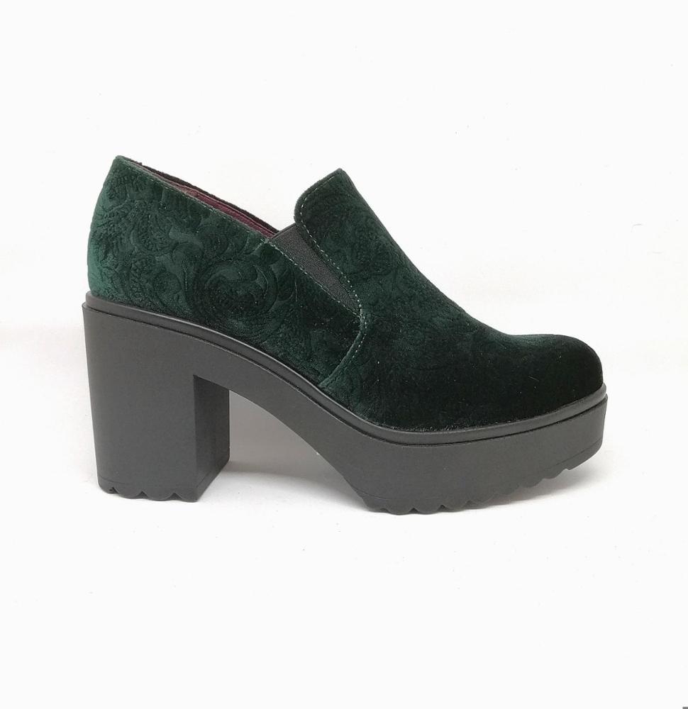 Novedad Zapato velvet verde