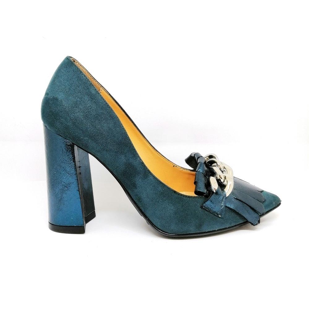 Novedad Zapato azul pavo antifaz