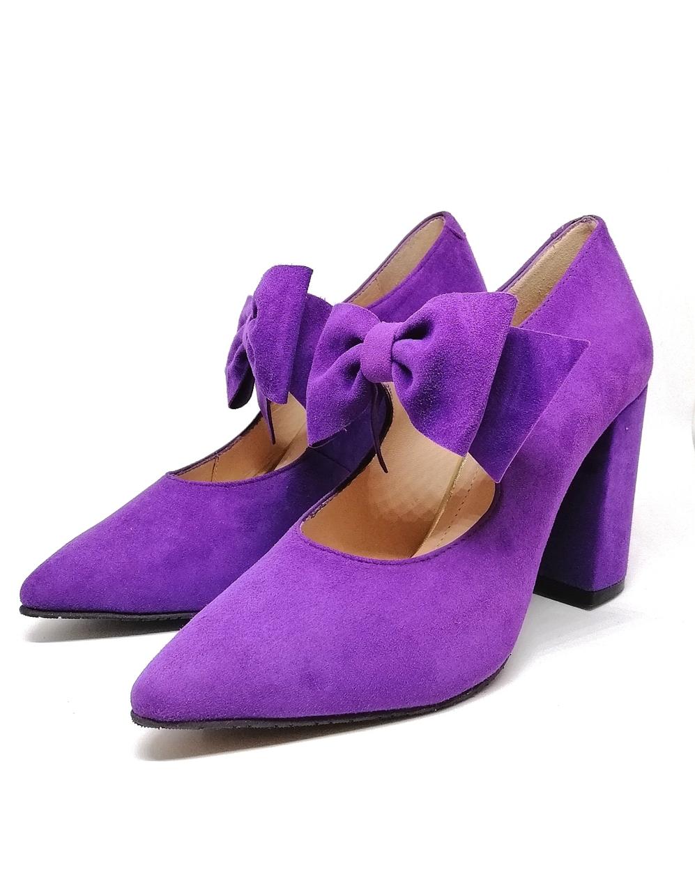Novedad Salón violeta lazo