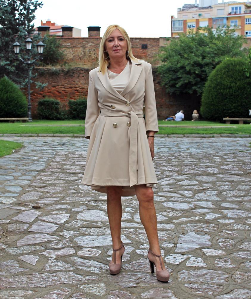 Novedad Trench vestido velvet