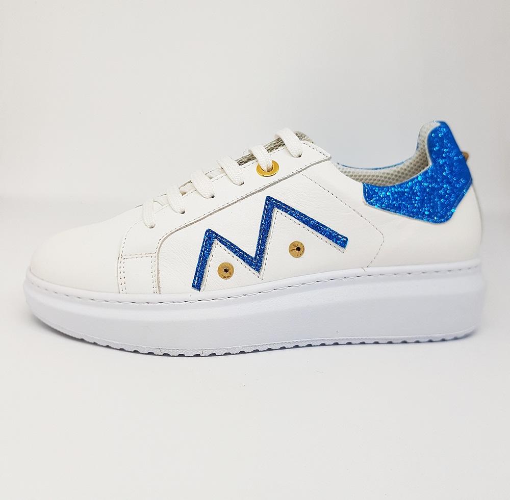 Novedad Sneakers blancas glitter