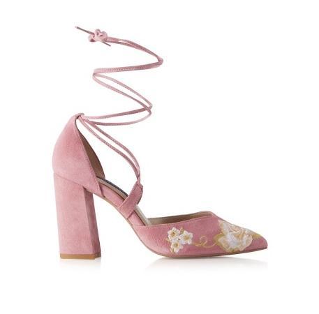 Salón floral rosa