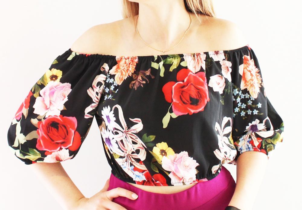 Novedad Top print floral