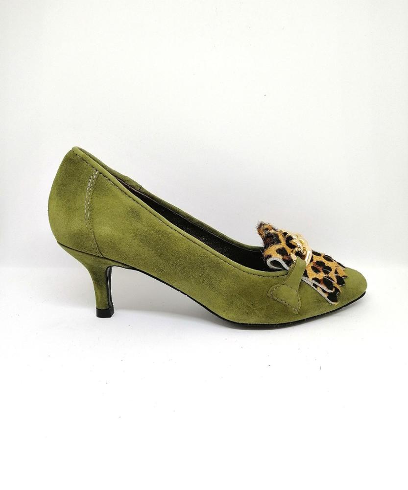 Novedad Salón kaki leopardo
