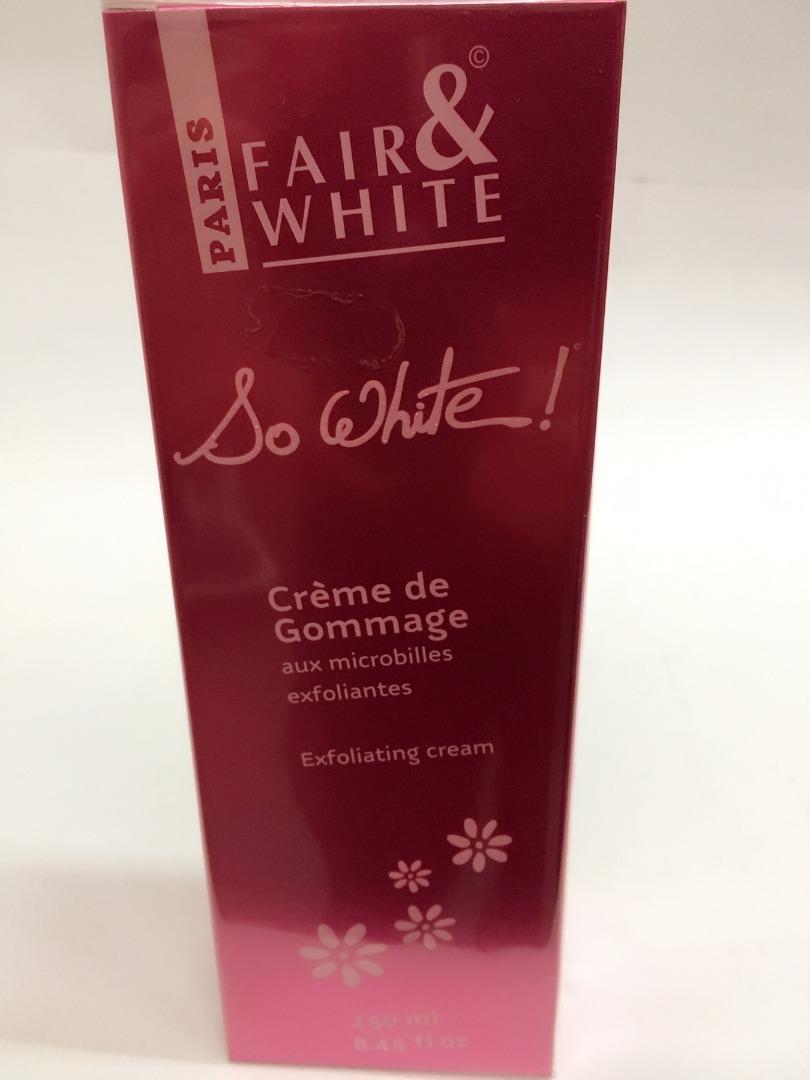 FAIR & WHITE SO WHITE EXFOLIATING CREAM