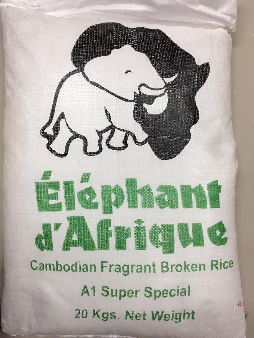 ELEPHANT D´AFRIQUE THAI RICE 20 K (1 CORTE)