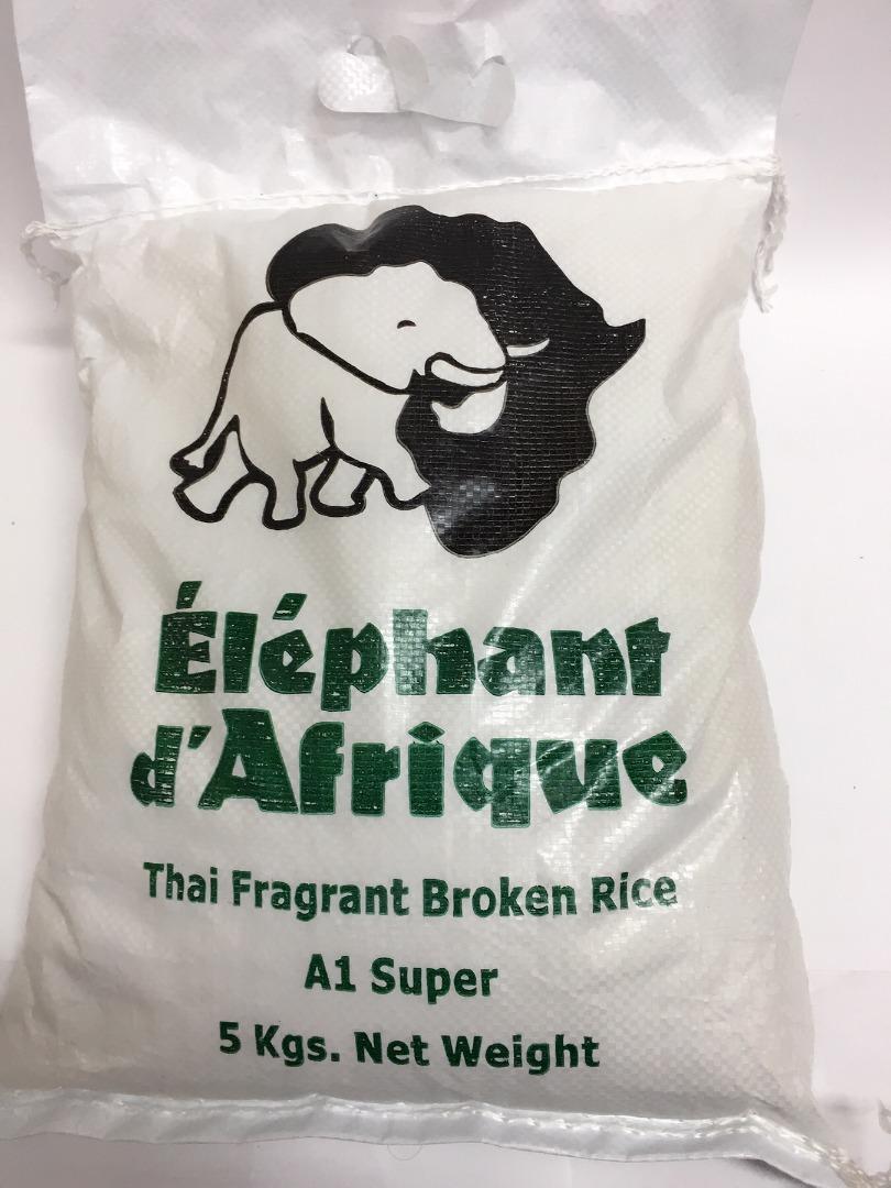 ELEPHANT D´AFRIQUE THAI RICE 5 K (2 CORTES)