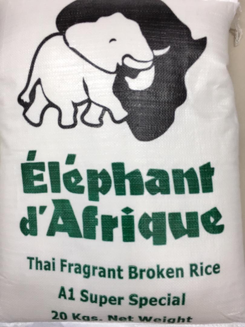 ELEPHANT D´AFRIQUE THAI RICE 20 K (2 CORTES)