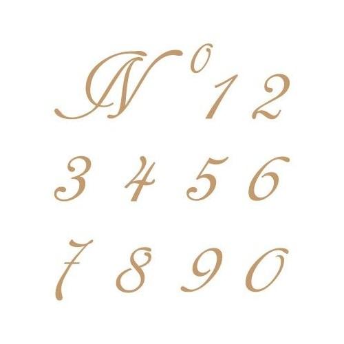 Stencil Plantilla abecedario números 001 S