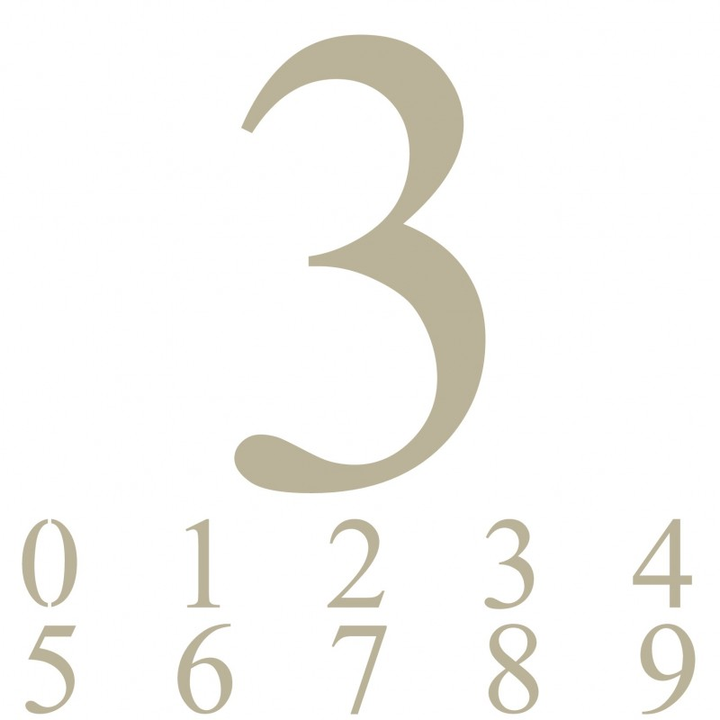 Stencil Plantilla abecedario números 012