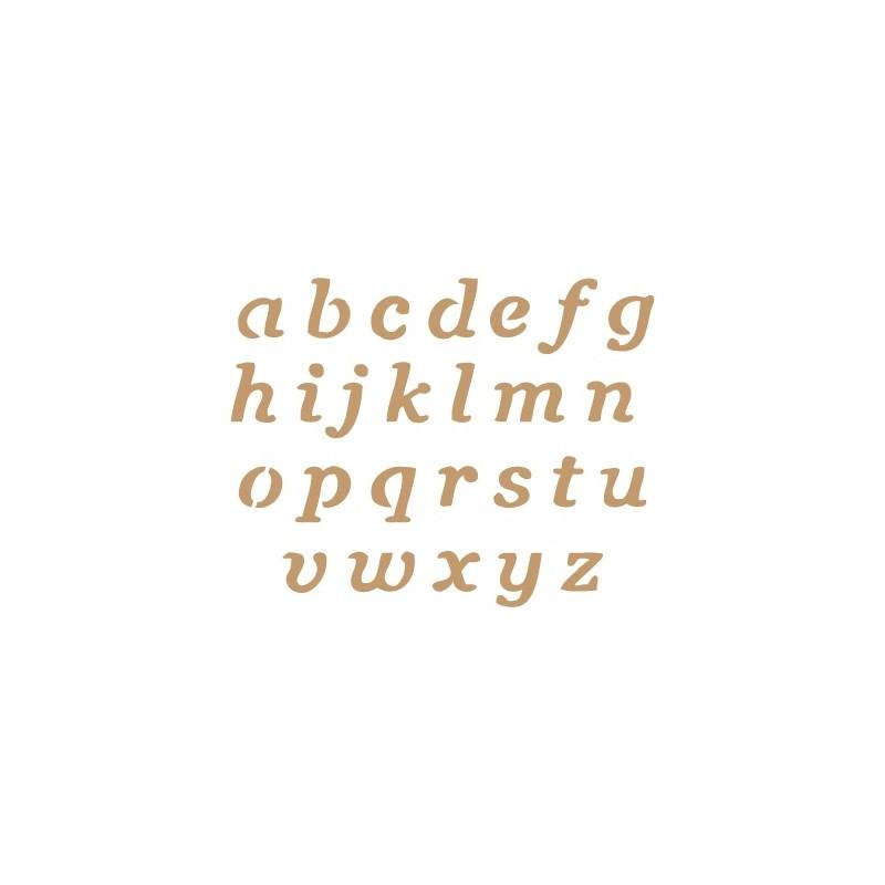 Stencil Plantilla abecedario 012