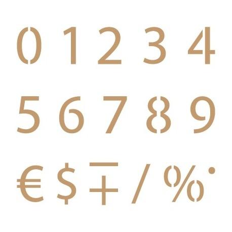 Stencil Plantilla Abecedario numérico 003