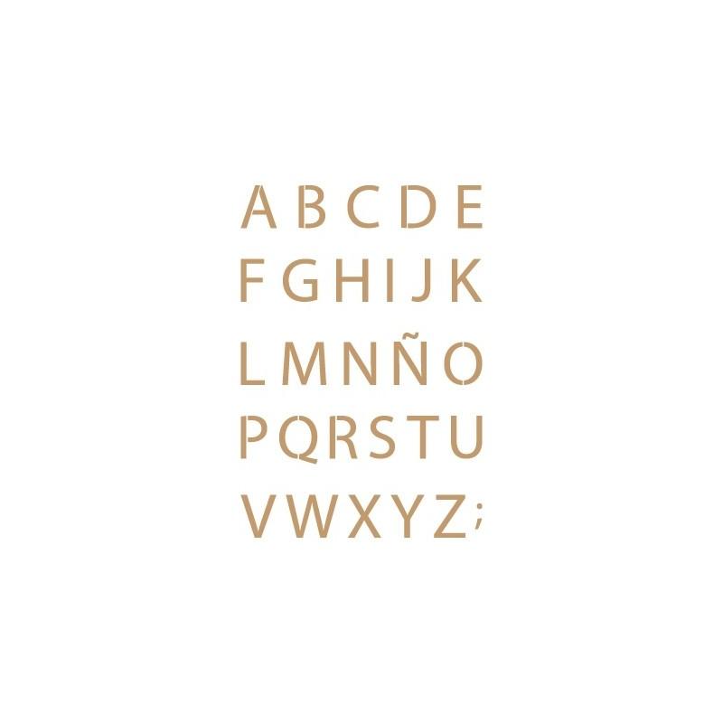Stencil Plantilla abecedario 024