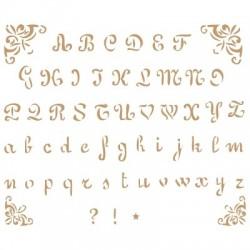 Stencil Plantilla abecedario 002