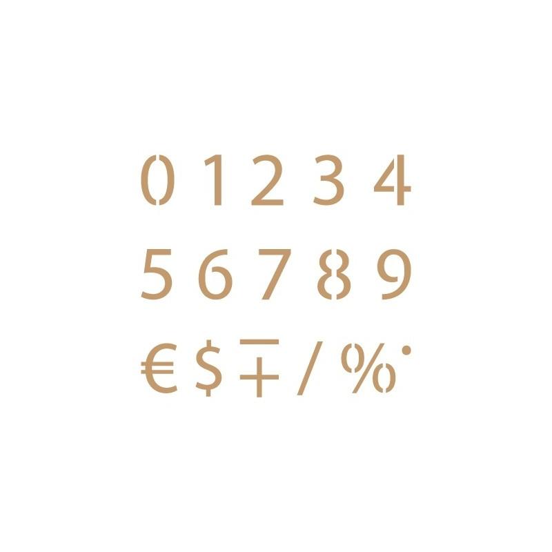 Stencil Plantilla abecedario números