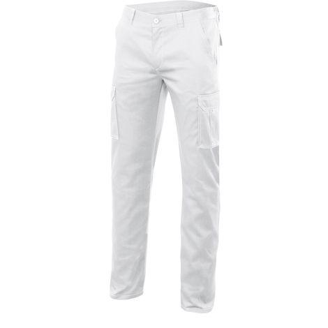 Velilla Pantalon multibolsillos blanco