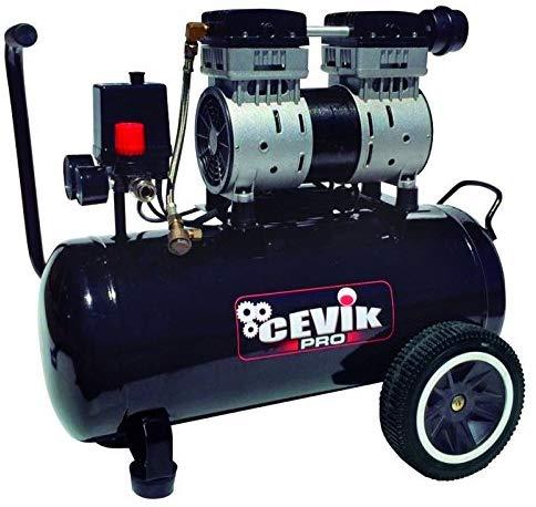 Cevik Compresor silencioso 1,5HP 24 litros