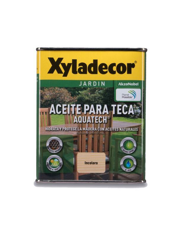 Xyladecor Aceite para teca al agua incoloro 750ml CON TARA ESTÉTICA