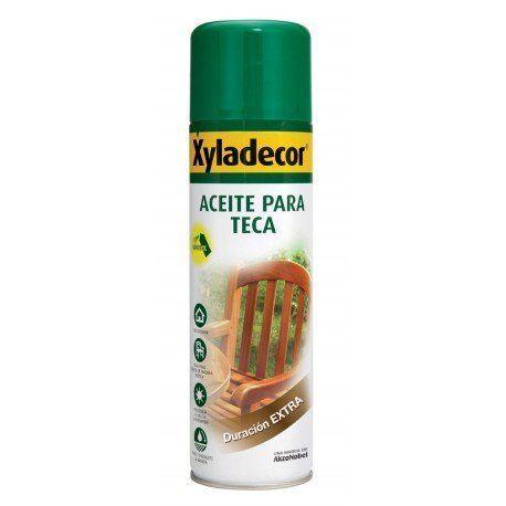 Xyladecor Spray de aceite para teca 500ml CON TARA ESTÉTICA