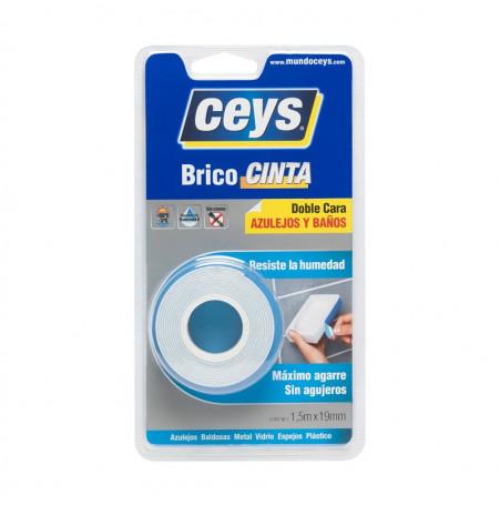 Ceys Cinta doble cara azulejos y baños 1,5mx19mm