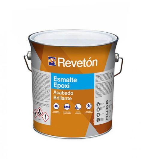 Revetón Epoxi  brillo 2 componentes (A+B) 4 Litros colores desde RAL6000 hasta RAL9018