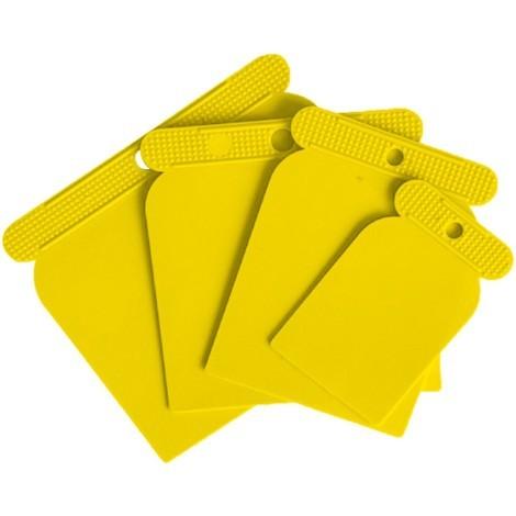 Juego espátulas plástico 4 unidades