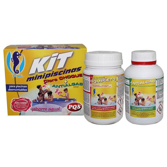 PQS Kit mini piscinas cloro choque+antialgas
