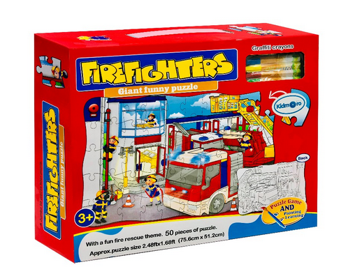 atosa Puzzle Bomberos Coloreables