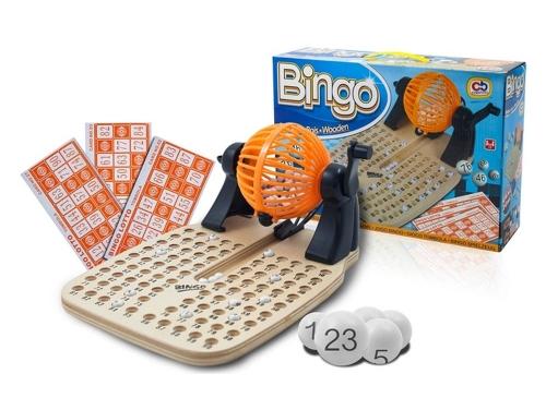 Bingo de mesa con bombo giratorio y 48 cartones