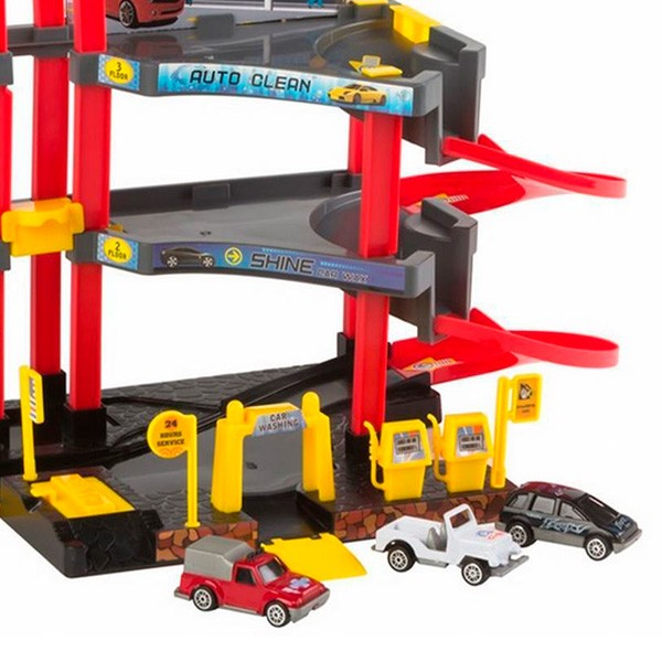 Parking Speed & Go CB Toys 3 niveles con 3 coches de metal