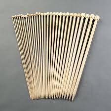 aguja tricotar bambu 2/pcs