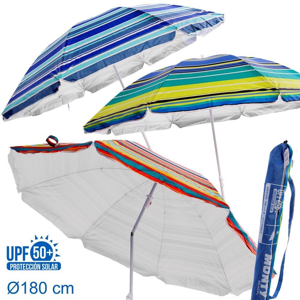 SOMBRILLA PROTECCIÓN SOLAR UPF +50 3/C 180 CM