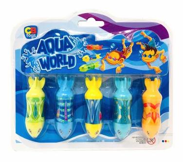 Juego acuático peces 5pcs Aqua World Cb Toys