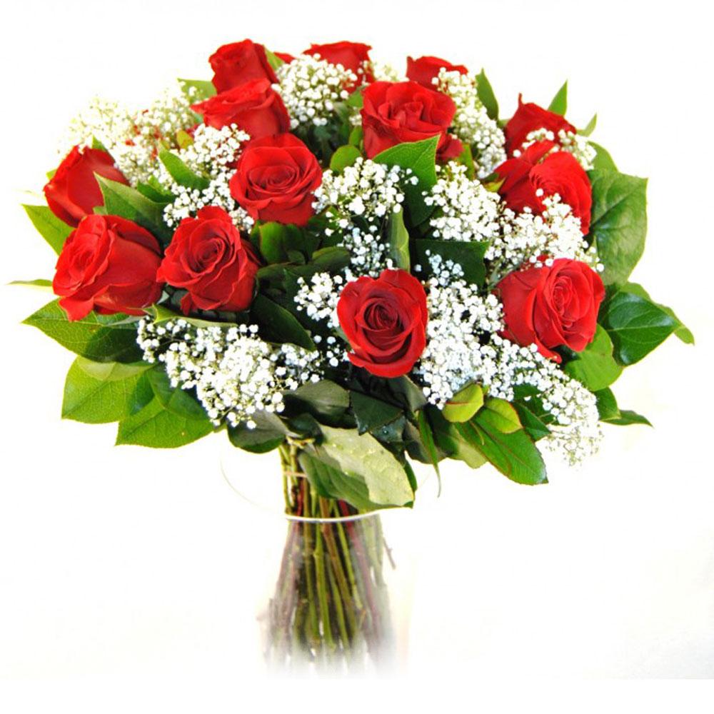 15 rosas rojas