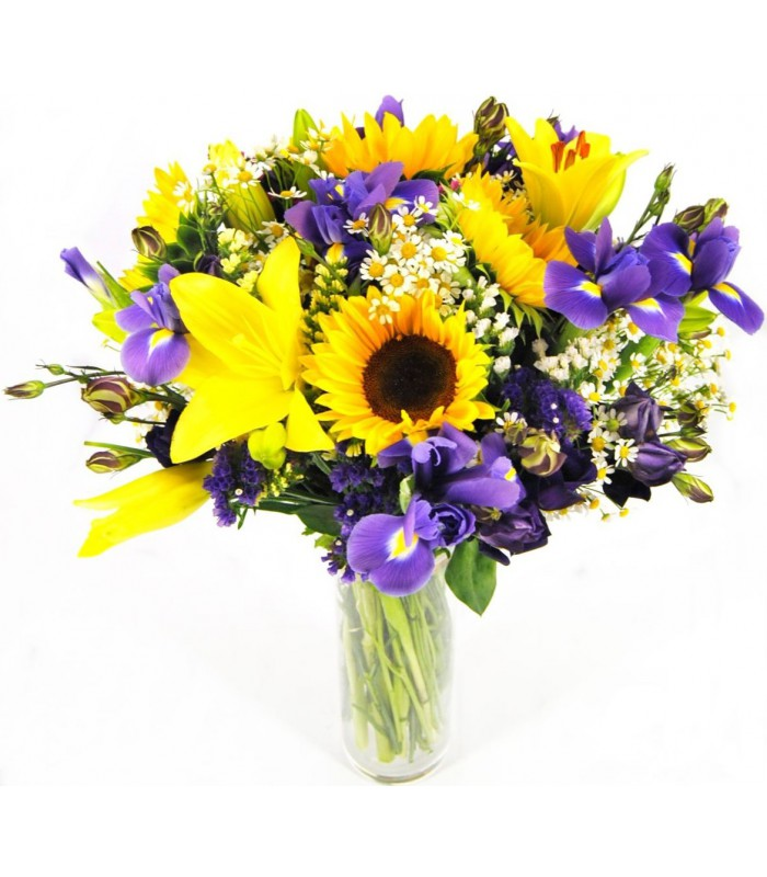 Ramo variado iris y lilium