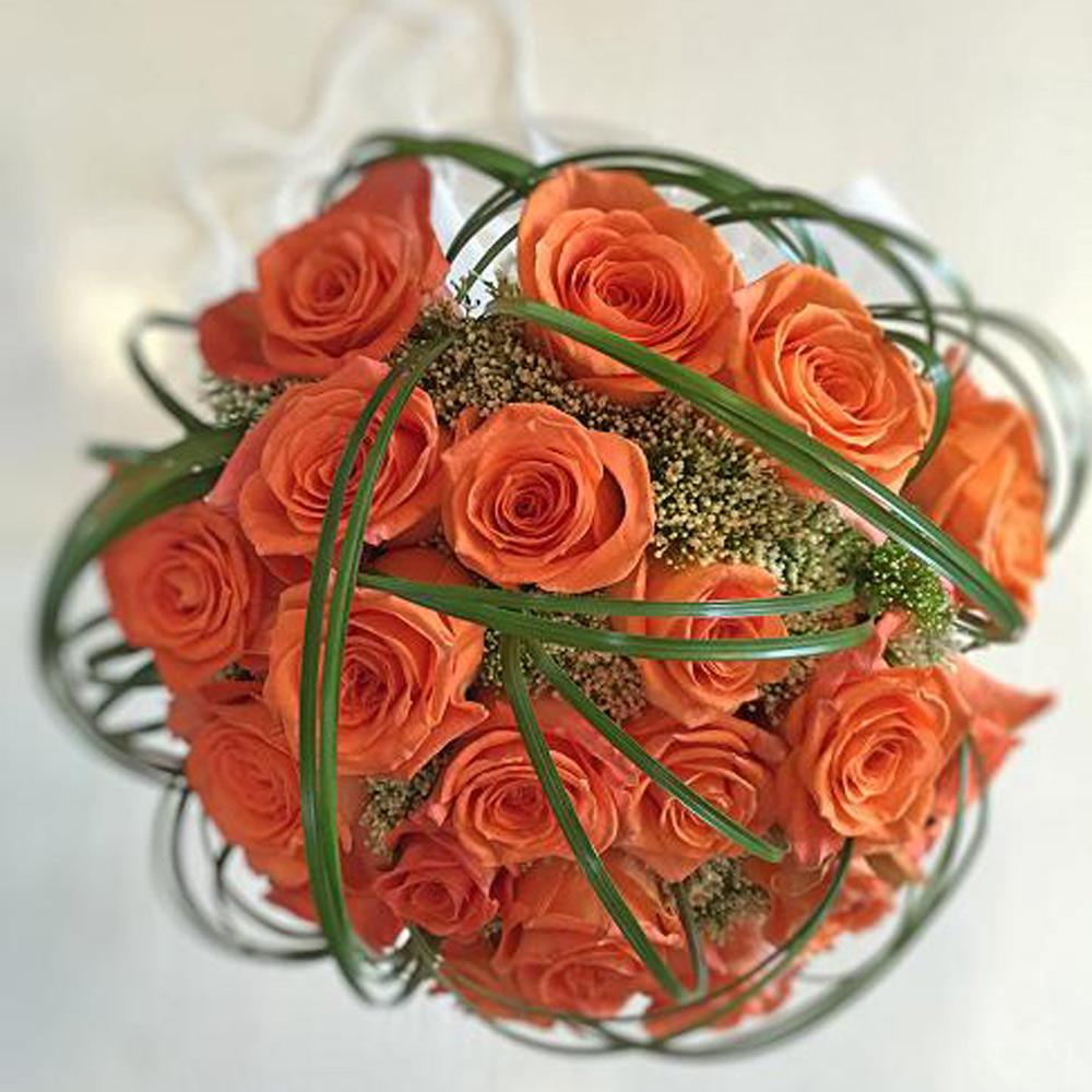 Bouquet rosas naranjas