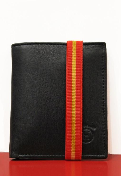 Hierro y Oro cartera elastico negra