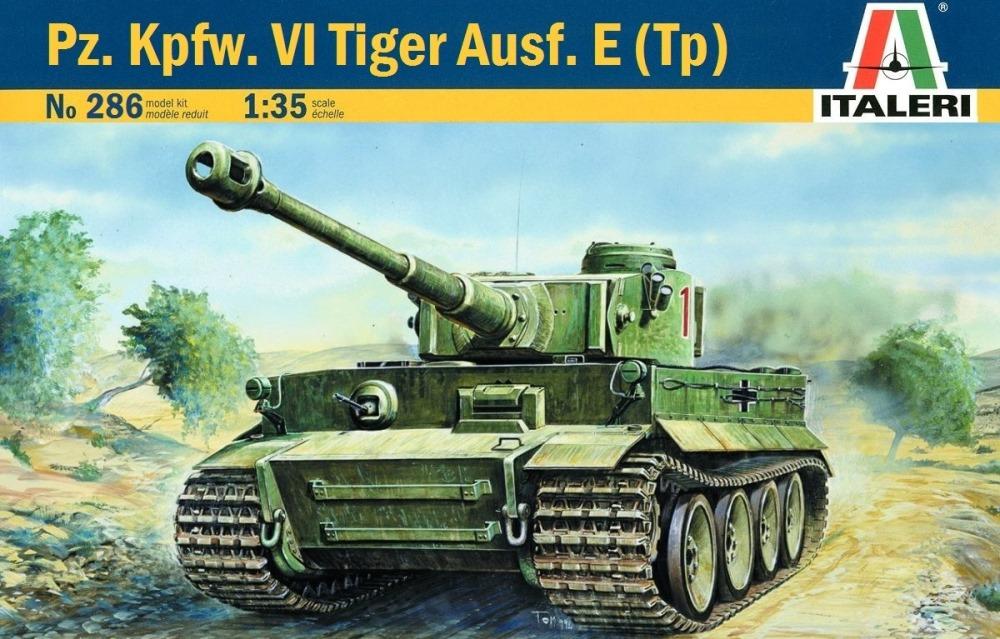 ITALERI 0286 German Pz.Kpfw.VI Tiger I Ausf.E (Tp) (WWII)