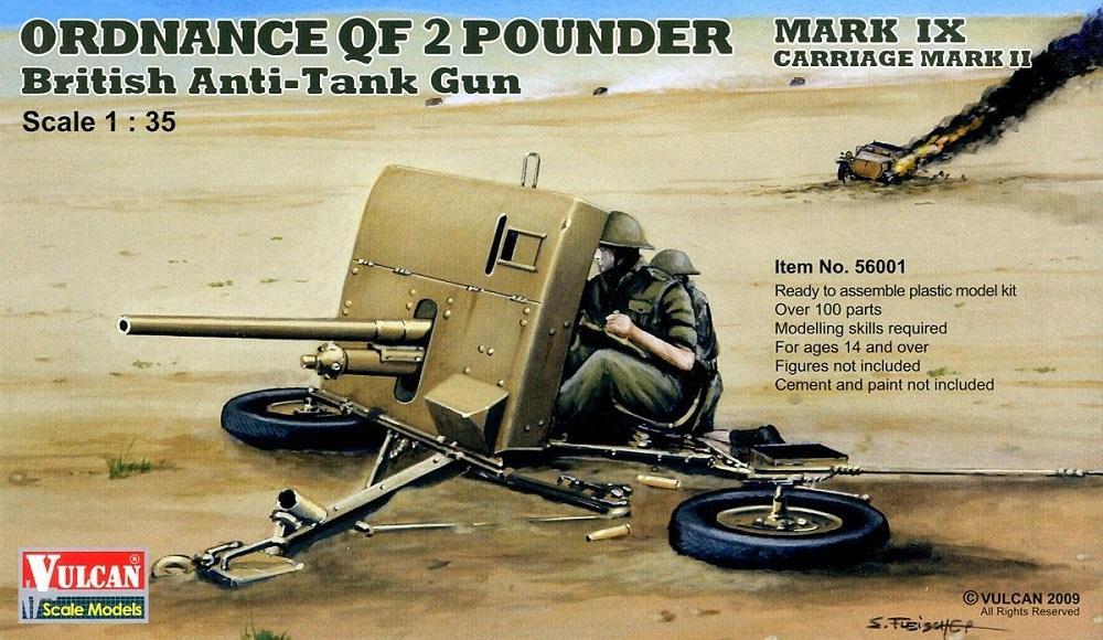 VULCAN SCALE MODELS 56001 British Anti-Tank Gun Ordnance QF 2 Pounder (WWII)