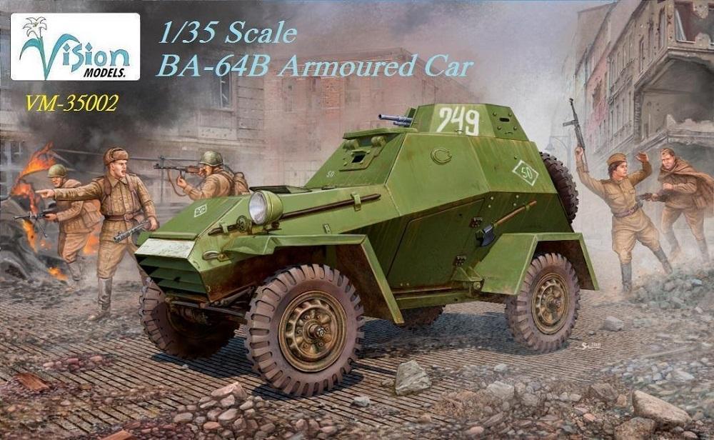 VISION MODELS VM35002 Soviet BA-64B Armored Car (WWII)