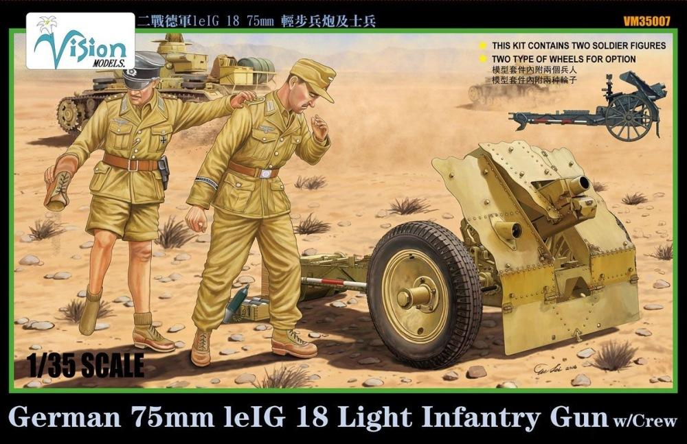 VISION MODELS VM35007 German 7,5cm le.IG.18 Light Infantry Gun with Crew (WWII)