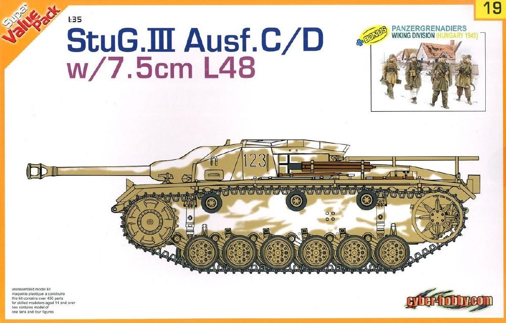 CYBER-HOBBY 9119 German Sturmgeschutz III Ausf.C/D with 7,5cm L/48 Gun