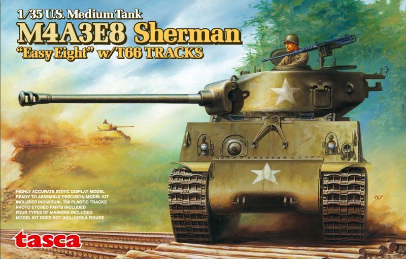 ASUKA MODEL 35020 U.S. Medium Tank M4A3E8 Sherman 'Easy Eight'