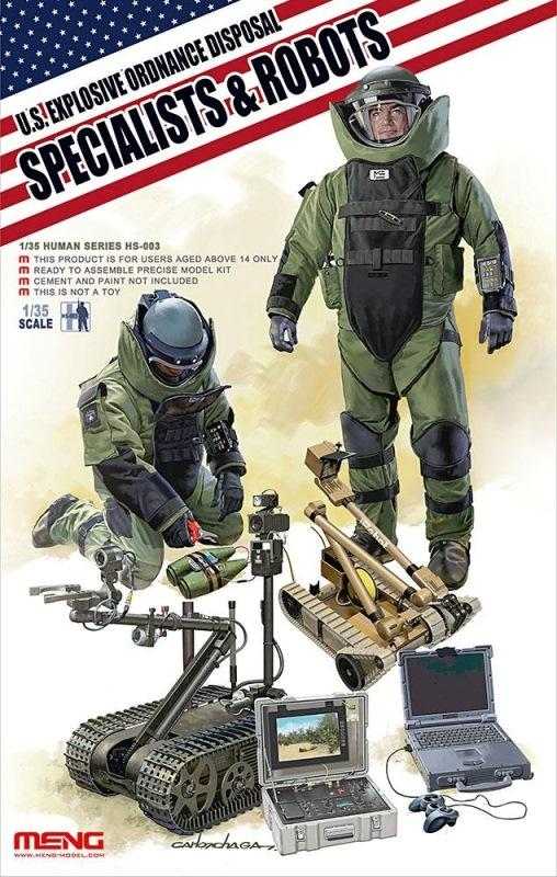 MENG MODEL HS003 U.S. Explosive Ordnance Disposal Specialists & Robots