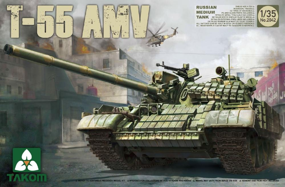 TAKOM 2042 Russian Medium Tank T-55 AMV