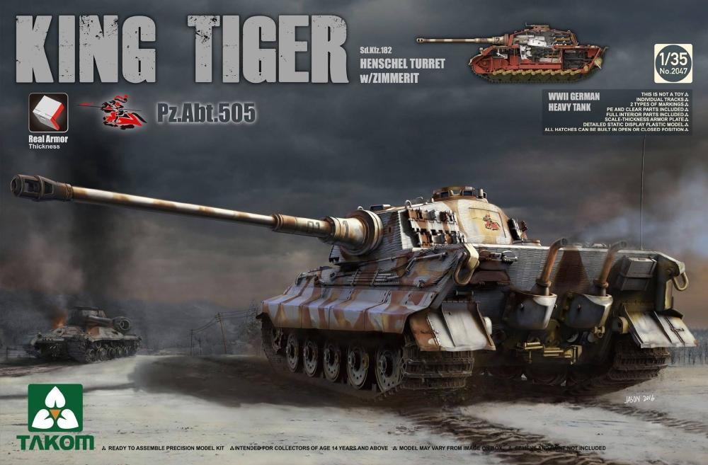 TAKOM 2047 German Heavy Tank Sd.Kfz.182 King Tiger (Henschel Turret)