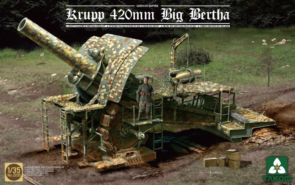 TAKOM 2035 German Siege Howitzer Krupp 420 mm 'Big Bertha'