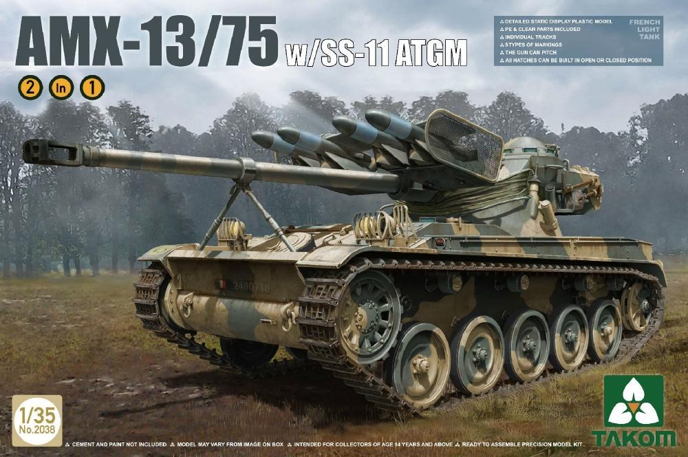 TAKOM 2038 French Light Tank AMX-13/75 with SS-11 ATGM
